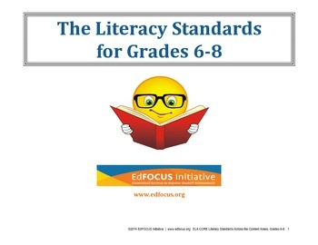 Common Core Literacy Standards Grades 6-8
