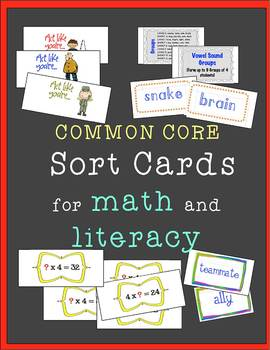 Common Core Literacy and Math Sorts - Group Students & Pra