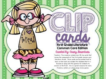 Common Core Literature Clip Cards