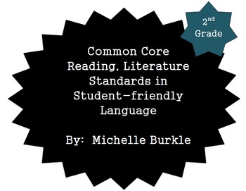 Common Core Literature Standards Posters- Second Grade