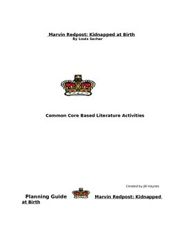 Common Core Literature Unit Activities for Marvin Redpost: