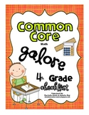 Common Core MATH Galore {4th Grade Checklist}