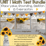 3rd Grade Math Assessment Pack Unit 1