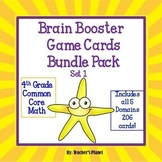 4th Grade Common Core Math Test Prep Game/ Task Cards Bund