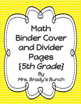 Common Core Math 5 Module Binder