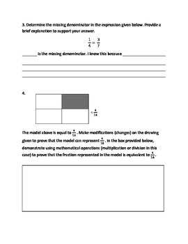 Common Core Math--5.NF.1--Complete Equivalent Fractions