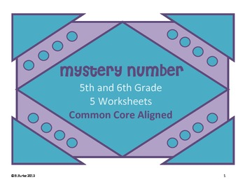 Common Core Math - 5th/6th Grade - Mystery Number Clues