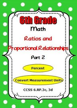 Common Core 6th Grade Math Ratios and Proportional Relatio