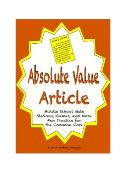 Common Core Math Article - The Absolute Truth About Absolu