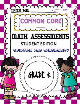 Common Core Math Assessment Kindergarten student edition.
