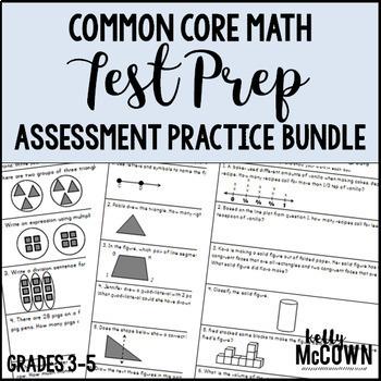 Common Core Math Assessment Test Prep Practice BUNDLE - Gr
