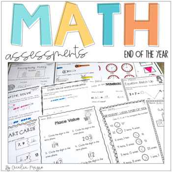 Common Core Math Assessments- 1st Grade - End of Year