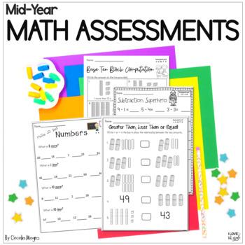 Common Core Math Assessments- 1st Grade - January