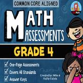 Common Core Math Assessments {4th Grade}