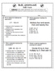 5th Grade Common Core Math Assessments: Operations and Alg