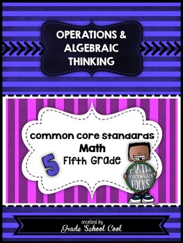Common Core Math Assessments Grade 5 (Operations & Algebra