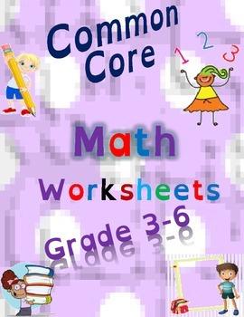 Common Core Math Bundle   Grades 3-6