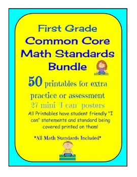 Common Core Math - Bundle of Practice Pages for First Grad