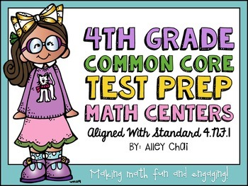 Common Core Math Centers (4.NF.1 - Simplifying & Equivalen