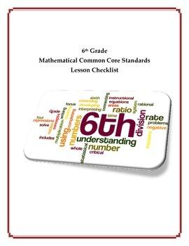 Common Core Math Checklist - 6th Grade