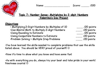 Common Core Math - Envision Grade 4 Topic 7 Multiplication