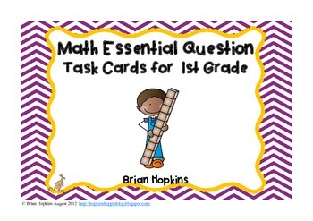 Common Core Math Essential Questions for 1st Grade