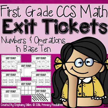 Common Core Math Exit Tickets- First Grade NBT
