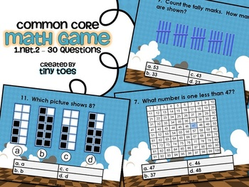 Common Core Math Game for First Grade - 1.NBT.2  Interacti