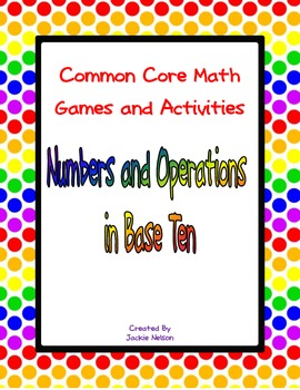 Common Core Math Games: 1st Grade: Numbers and Operations