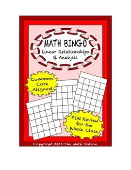 "Common Core Math Games - ""Math BINGO"" Linear Relationships"