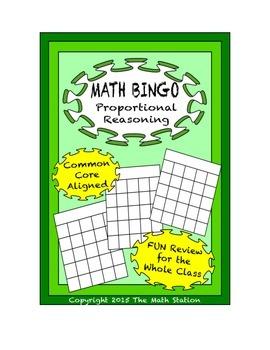"Common Core Math Games - ""Math BINGO"" Proportional Reasoni"