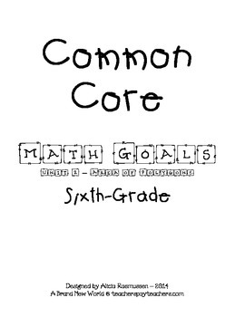 Common Core Math Goal Page - Area of Polygons