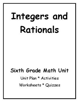 Printables 6th Grade Integer Worksheets 6th grade common core math integers and by jeni hall teachers rationals unit nu
