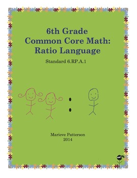 6th Grade Common Core Math: Ratio Language