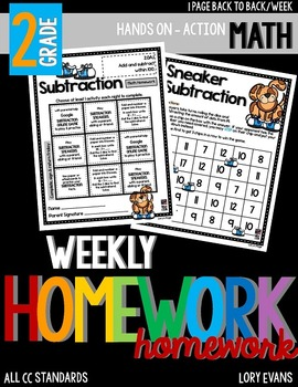 Common Core Math Homework - Grade 2 - Term 4