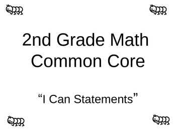 """Common Core Math """"I can statements"""""""