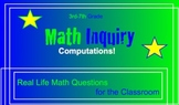 Common Core Math Inquiry Smartboard Word Problems