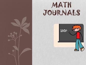 Common Core Math Journals-Week #2