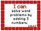 "Common Core Math Kid Friendly ""I Can"" Statements for 1st Grade"