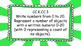 Kindergarten Math Standards Posters on Green Sunburst Frame