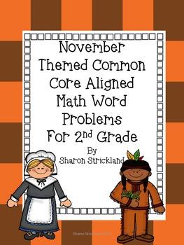 Second Grade Common Core Math-2.OA.1-November Word Problems