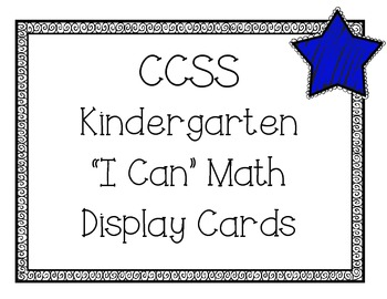 """Common Core Math Objective """"I can"""" cards"""