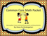 Common Core Math Packet