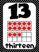 Common Core Number Posters: Full Size & Half Size {Black &