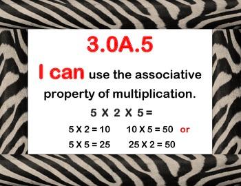 Common Core Math Posters (Zebra Borders)