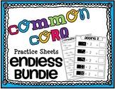 Common Core Math Practice Sheets ENDLESS BUNDLE