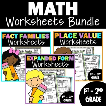 Math Worksheets for First and Second Grade