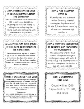 Common Core Math Standard Labels 2nd Grade