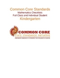 Common Core Math Standards Chart - Kindergarten .docx