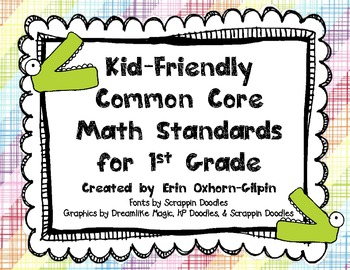 Common Core Math Standards, Kid-Friendly